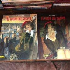 Cómics: EL VUELO DEL CUERVO - 2 TOMOS - COMPLETA - GIRBAT - NORMA. Lote 177430080