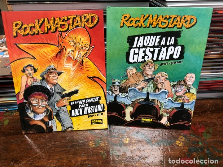 ROCK MASTARD - 2 TOMOS - BOUCQ · DELAN - NORMA - TAPA DURA (Tebeos y Comics - Norma - Comic Europeo)