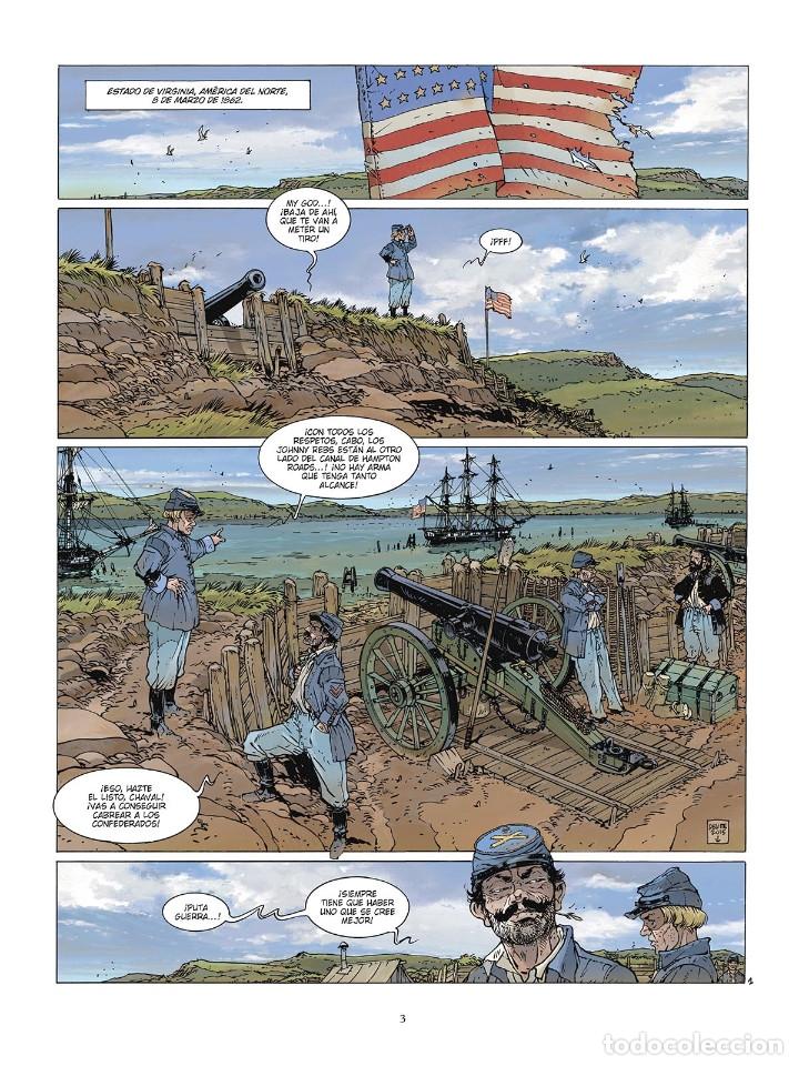 Cómics: Cómics. LAS GRANDES BATALLAS NAVALES. 6. HAMPTON ROADS - Jean-Ives Delitte (Cartoné) - Foto 2 - 177748757