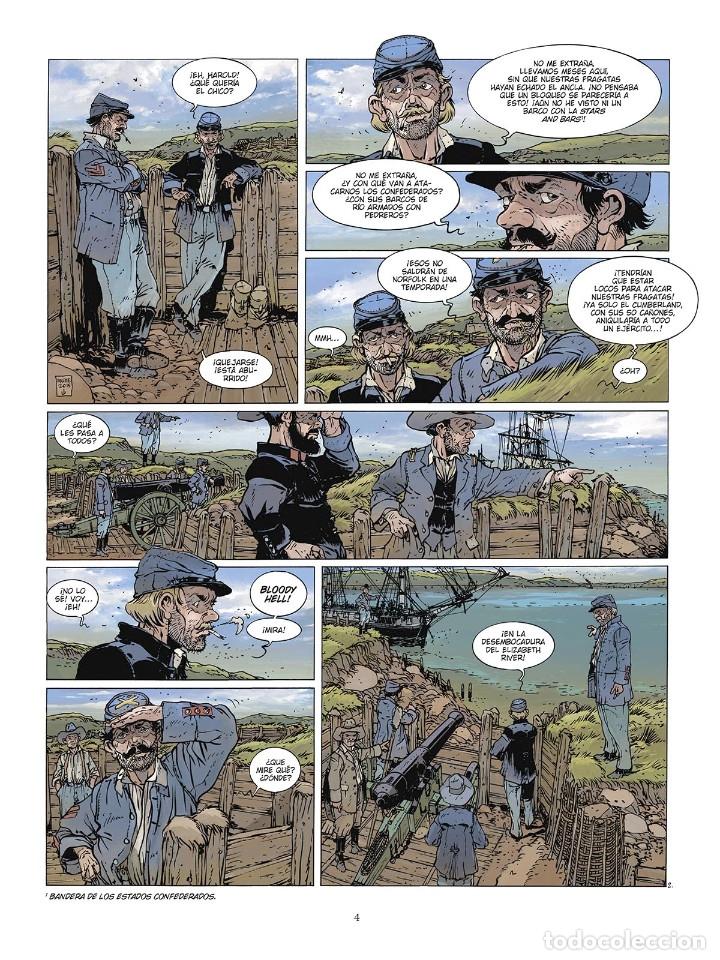 Cómics: Cómics. LAS GRANDES BATALLAS NAVALES. 6. HAMPTON ROADS - Jean-Ives Delitte (Cartoné) - Foto 3 - 177748757