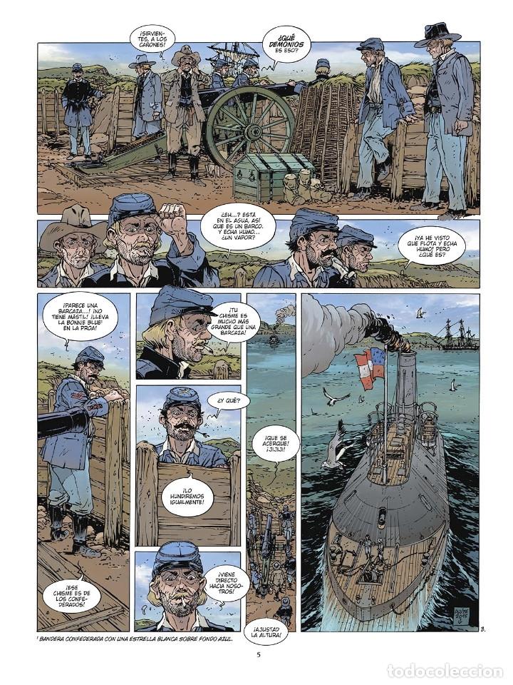 Cómics: Cómics. LAS GRANDES BATALLAS NAVALES. 6. HAMPTON ROADS - Jean-Ives Delitte (Cartoné) - Foto 4 - 177748757