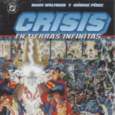 Cómics: CRISIS EN TIERRAS INFINITAS - HISTORIA COMPLETA - TOMO TAPA DURA NORMA - A ESTRENAR. Lote 195066435