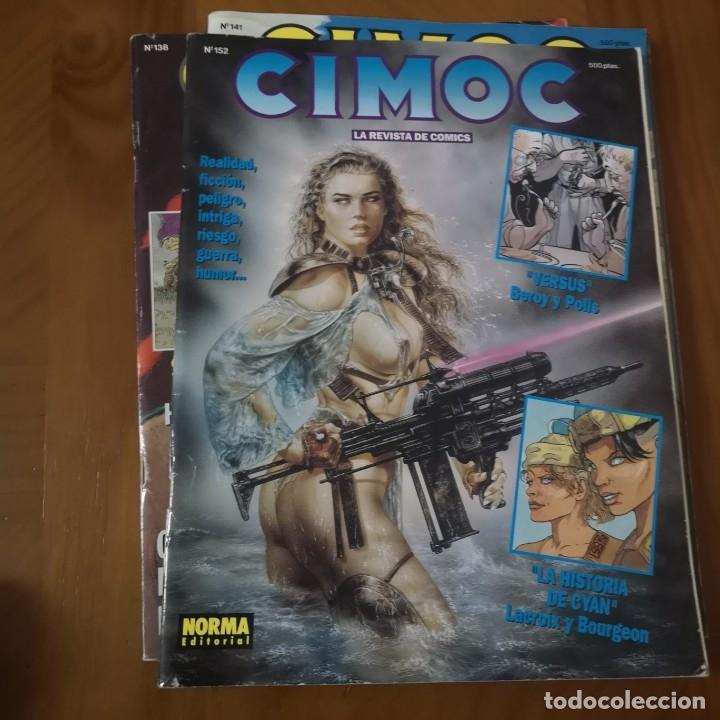 COMIC CIMOC, NUMEROS SUELTO 1,2,2,3,4,5,6,7,8,9,10,11,12,13,132,138,141,152,153 (Tebeos y Comics - Norma - Cimoc)