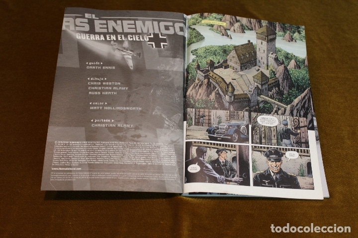 Cómics: El as enemigo,guerra en el cielo,Garth Ennis/Chris Weston y otros, Norma Editorial,2003. - Foto 2 - 180266855
