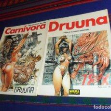 Cómics: DRUUNA Nº 2 NORMA 1992 Y DRUUNA Nº 4 CARNÍVORA NORMA 1993. PAOLO ELEUTERI SERPIERI. RÚSTICA. BE.. Lote 180449036