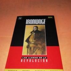 Cómics: IRONWOLF. DC. NORMA. HOWARD CHAYKIN & MIKE MIGNOLA. CARTONÉ CON SOLAPAS. BUEN ESTADO.. Lote 181491597