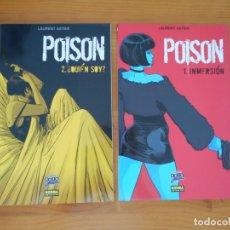 Cómics: POISON COMPLETA - 2 TOMOS - INMERSION - ¿QUIEN SOY? - LAURENT ASTIER - NORMA - COMIC NOIR (8Y). Lote 181689522