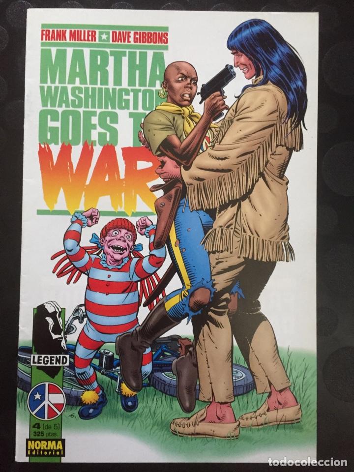 MARTHA WASHINGTON GOES TO WAR . FRANK MILLER DAVE GIBBONS . N.4 . ( 1995 ) . (Tebeos y Comics - Norma - Comic USA)