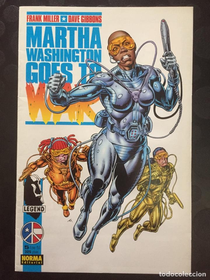 MARTHA WASHINGTON GOES TO WAR . FRANK MILLER DAVE GIBBONS . N.6 . ( 1995 ) . (Tebeos y Comics - Norma - Comic USA)