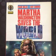 Cómics: MARTHA WASHINGTON SAVES THE WORLD . FRANK MILLER DAVE GIBBONS . RÚSTICA . ( 1999 ) .. Lote 181695890