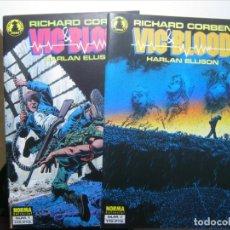 Cómics: VIC & BLOOD - 1 Y 2 COMPLETA - RICHARD CORBEN - HARLAN ELLISON -NORMA EDITORIAL - 1989 - LUJO!. Lote 182022268