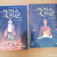 Cómics: LA ROSA Y LA CRUZ COMPLETA - 2 TOMOS TAPA DURA - NORMA EDITORIAL (HI). Lote 182302352