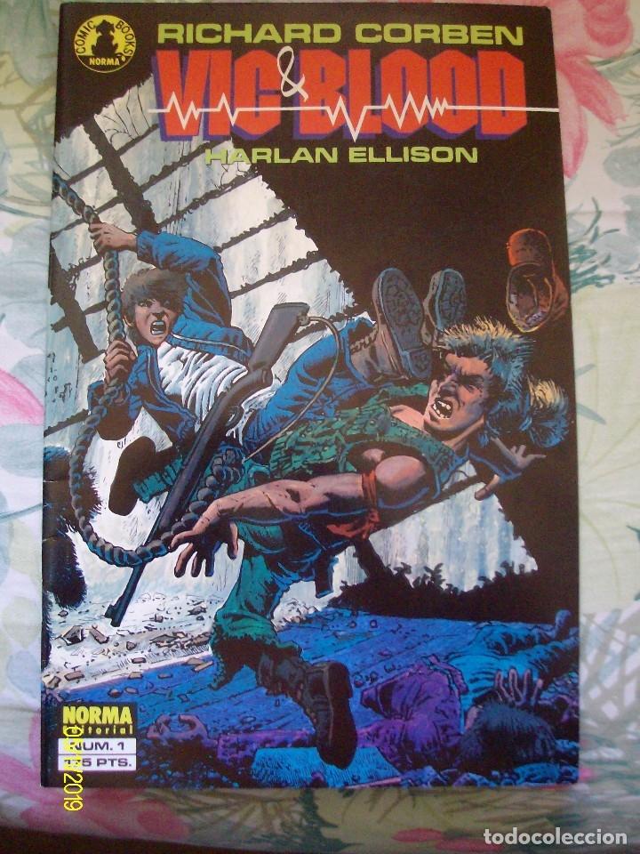 RICHARD CORBEN VIC & BLOOD HARLAN ELLISON Nº 1 Y 2 COMPLETA LAS CRONICAS DE UN MUCHACHO Y SU PERRO (Tebeos y Comics - Norma - Comic USA)