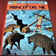 Cómics: ÀLIX - EL PRÍNCEP DEL NIL - JACQUES MARTIN - NORMA - 1982 - EN CATALÁN. Lote 182726797