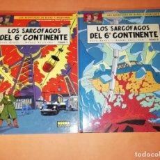Cómics: BLAKE Y MORTIMER. LOS SARCOFAGOS DEL 6º CONTINENTE. 1 ª Y 2 ª PARTES. NORMA EDITORIAL 2004. Lote 183314116