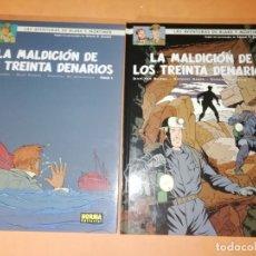 Cómics: BLAKE Y MORTIMER . LA MALDICION DE LOS TRINTA DENARIOS. 1ª Y 2 ª PARTES, NORMA EDITORIAL.2010. Lote 183314857
