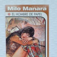 Cómics: MILO MANARA - EL HOMBRE DE PAPEL - CÓMIC EUROPEO - BLANCO Y NEGRO - COLECCIÓN MILO MANARA N 31. Lote 183331708
