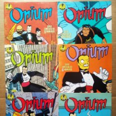 Cómics: LOTE OPIUM, POR DANIEL TORRES (NORMA EDITORIAL, 1989). SERIE LIMITADA COMPLETA, NÚMEROS 1-2-3-4-5-6.. Lote 184015783