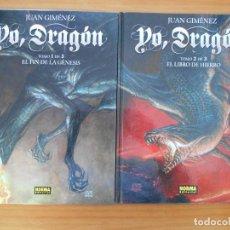 Comics: YO, DRAGON TOMOS Nº 1 Y 2 (DE 3) - JUAN GIMENEZ - NORMA - TAPA DURA (T1). Lote 187211178