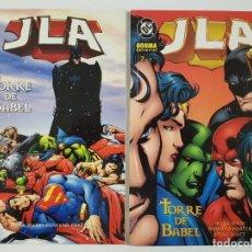 Cómics: JLA TORRE DE BABEL TOMOS 1 Y 2 - COMPLETA - NORMA - MARK WAID / HOWARD PORTER LIGA JUSTICIA. Lote 189213847