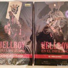Cómics: HELLBOY EN EL INFIERNO COMPLETA CARTONE 1+2 (LA CARTA DE LA MUERTE+EL DESCENSO) NORMA. Lote 189362326