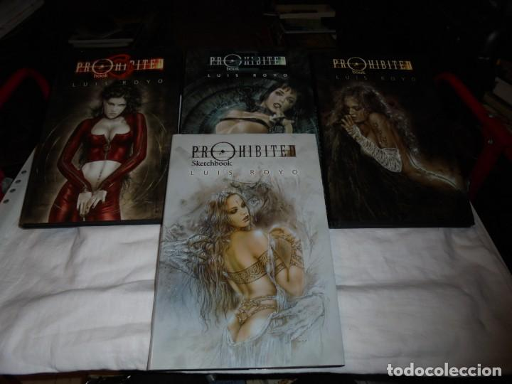 Cómics: PROHIBITED BOOK.LUIS ROYO COMPLETA EN TRES TOMOS + PROHIBITED SKETCHBOOK - Foto 2 - 189898118