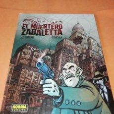 Cómics: EL MUERTERO ZABALETTA - AGRIMBAU / GINEVRA - NORMA - TAPA DURA, COLOR. Lote 190207397