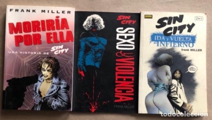LOTE FRANK MILLER - MORIRÍA POR ELLA, IDA Y VUELTA AL INFIERNO (2) Y SEXO & VIOLENCIA. (Tebeos y Comics - Norma - Comic USA)