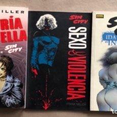 Cómics: LOTE FRANK MILLER - MORIRÍA POR ELLA, IDA Y VUELTA AL INFIERNO (2) Y SEXO & VIOLENCIA.. Lote 122137459