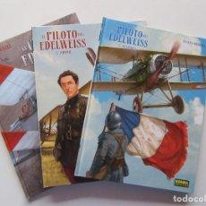 Cómics: EL PILOTO DEL EDELWEISS - 3 TOMOS COMPLETA - YANN Y HUGAULT - NORMA - TAPA DURA - MUY BUENO. Lote 266885414