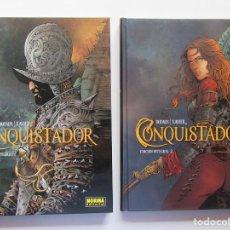 Cómics: CONQUISTADOR - COMPLETA 2 TOMOS - DUFAUX Y XAVIER - NORMA - TAPA DURA - MUY BUENO. Lote 191370582