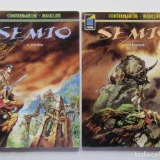 Cómics: SEMIO - TOMOS 1 Y 2 - CONTREMARCHE Y MOUCLIER - NORMA - TAPA BLANDA. Lote 191380608