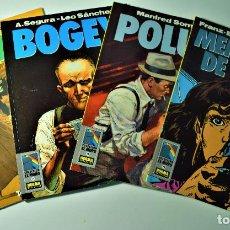 Cómics: BOGEY Nº 11, 13, 18 Y 19 - POR A. SEGURA - LEO SÁNCHEZ - 1º EDICIÓN NORMA EDITORIAL 1991. Lote 191637430