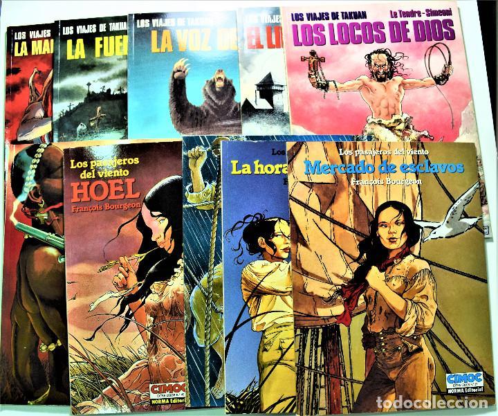 LOS PASAJEROS DEL VIENTO Nº 24, 27, 44, 49 Y 51 - NORMA EDITORIAL - COLECCIÓN CIMOC (Tebeos y Comics - Norma - Cimoc)