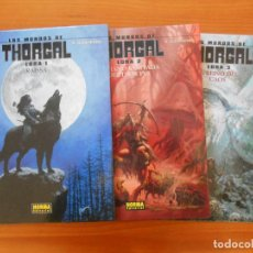 Comics: LOS MUNDOS DE THORGAL - LOBA - Nº 1, 2 Y 3 - TAPA DURA - NORMA (CJ). Lote 191884875