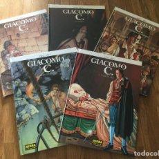 Cómics: LOTE 5 TOMOS GIACOMO C. - DUFAUX / GRIFFO - NORMA - TAPA DURA - MUY BUEN ESTADO - GCH1. Lote 192525010
