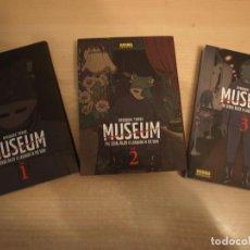 Comics: MUSEUM - THE SERIAL KILLER IS LAUCHING IN THE RAIN - TRES NÚMEROS - NORMA - COMO NUEVO. Lote 193961777