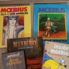 Cómics: LOTE 4 LIBROS MOEBIUS + DVD - NORMA CÓMICS - OFERTA INVERSORES. Lote 194135047