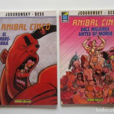 Cómics: ANIBAL CINCO 1 Y 2 COMPLETA - JORODOWSKY Y BESS - NORMA - TAPA BLANDA . Lote 194515768