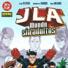 Cómics: JLA: MUNDO SIN ADULTOS NORMA EDITORIAL. Lote 194550647