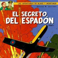 Cómics: LAS AVENTURAS DE BLAKE Y MORTIMER. EL SECRETO DEL ESPADON. TOMO 1. EDGAR P. JACOBS. NORMA, 2004. Lote 194583203