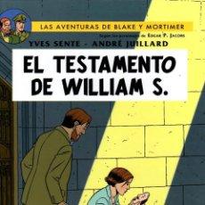 Cómics: LAS AVENTURAS DE BLAKE Y MORTIMER. EL TESTAMENTO DE WILLIAM S. NORMA, 2017. 1ª EDICION. Lote 194584161