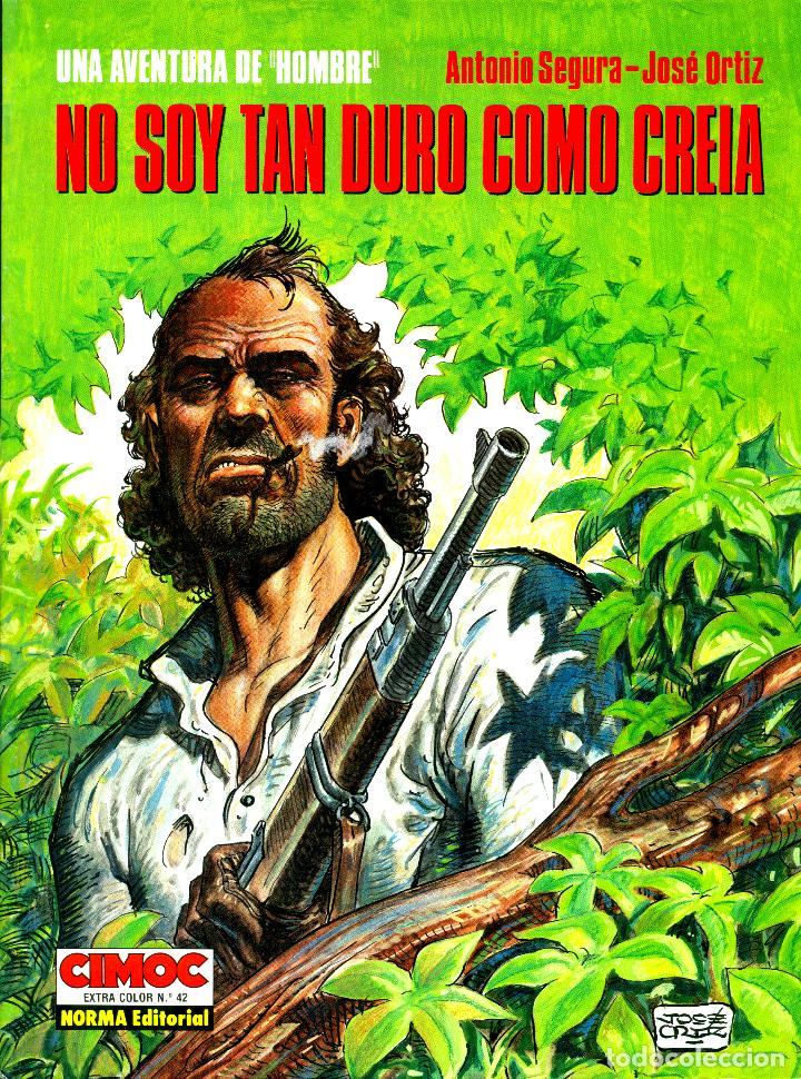 HOMBRE: LOS 5 ALBUMES DE CIMOC EXTRA COLOR (NORMA, 1988-1995) DE ORTIZ Y SEGURA (Tebeos y Comics - Norma - Comic Europeo)