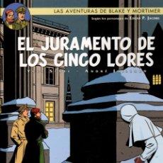 Cómics: LAS AVENTURAS DE BLAKE Y MORTIMER. Nº 21. EL JURAMENTO DE LOS CINCO LORES. NORMA 2013. 1ª EDICION. Lote 195182412