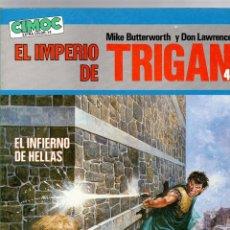 Cómics: EL IMPERIO DE TRIGAN 4 MIKE BUTTERWORTH Y DON LAWRENCE EL INFIERNO DE HELLAS CIMOC EXTRA COLOR Nº 14. Lote 195199163