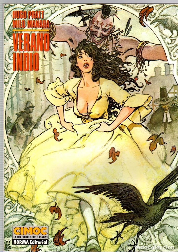 VERANO INDIO. HUGO PRATT - MILO MANARA. CIMOC EXTRA COLOR TRIPLE 19-20-21. NORMA, 1986 (Tebeos y Comics - Norma - Cimoc)