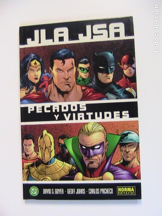 JLA JSA. PECADOS Y VIRTUDES. NORMA, 2003. (Tebeos y Comics - Norma - Comic USA)