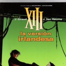 Cómics: XIII. Nº 18. LA VERSION IRLANDESA. J. GIRAUD - J. VAN HAMME. NORMA, 2008. 1ª EDICION. Lote 195389078