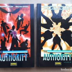 Cómics: THE AUTHORITY 1 Y 2 - WARREN ELLIS BRYAN HITCH - MARK MILLAR FRANK QUITELY - NORMA - JMV. Lote 195417086
