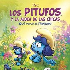 Cómics: CÓMICS. LOS PITUFOS Y LA ALDEA DE LAS CHICAS. 2. LA TRAICIÓN DE PITUFIRRETOÑO - ESTUDIO PEYO (CARTON. Lote 195548615